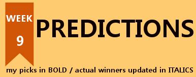 Football Predictions Week 9