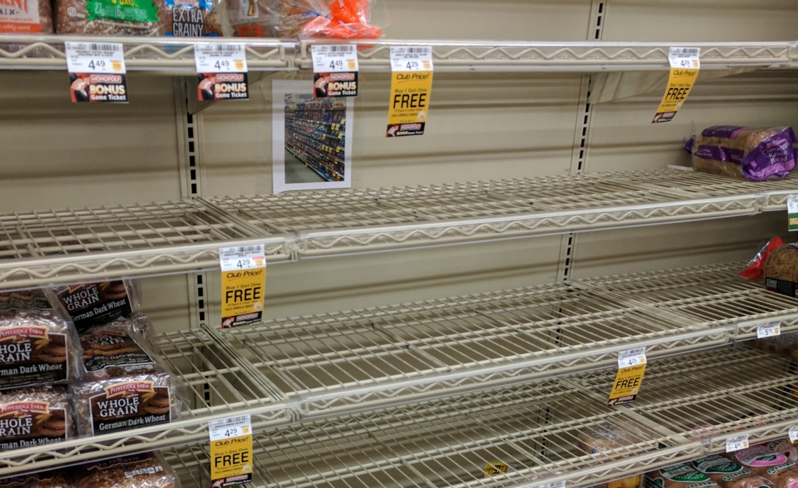 Snowstorm Bread Shelf